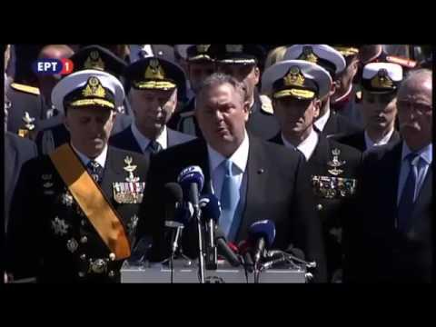 Video - Π. Καμμένος: Οι ελληνικές Ένοπλες Δυνάμεις είναι έτοιμες να απαντήσουν σε οποιαδήποτε πρόκληση