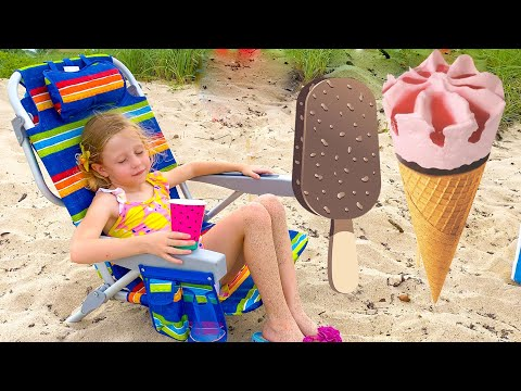 Nastya and the story about Ice Cream and Lemonade