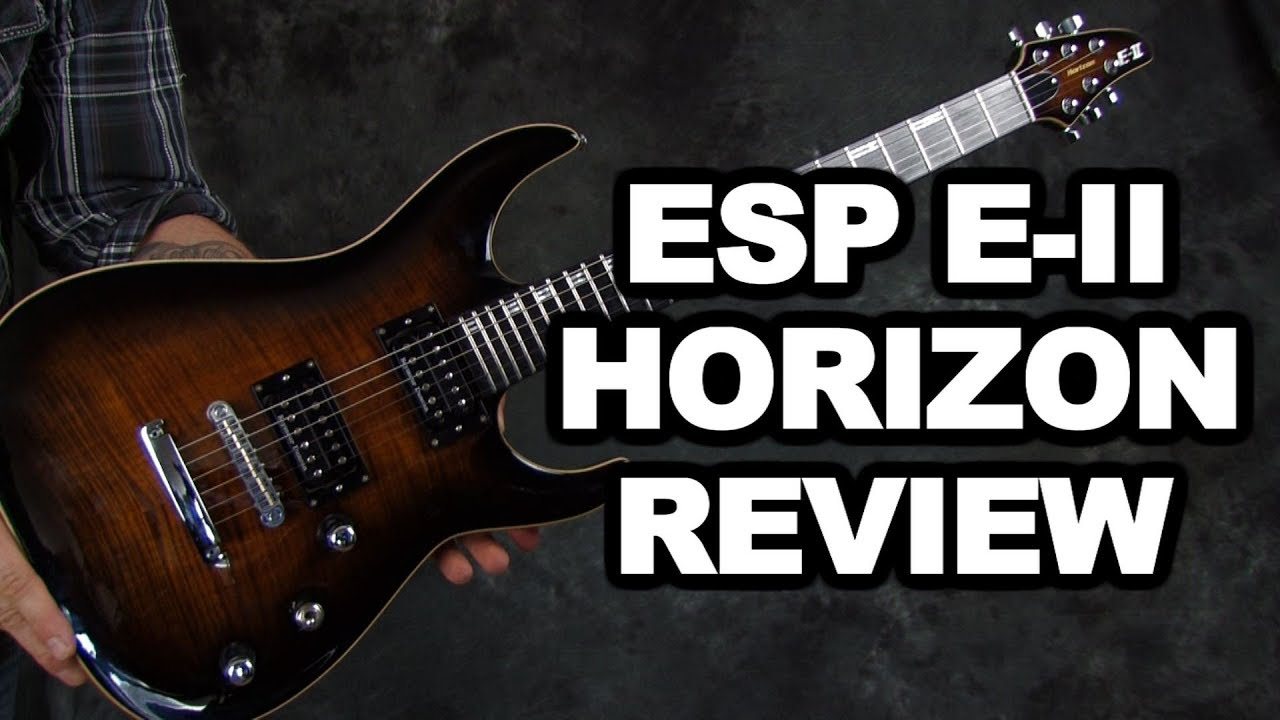 ESP Horizon EII FM NT electric guitar review & demo