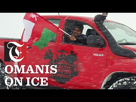 Here's what happens when Omani desert crossers cross ice for a change.