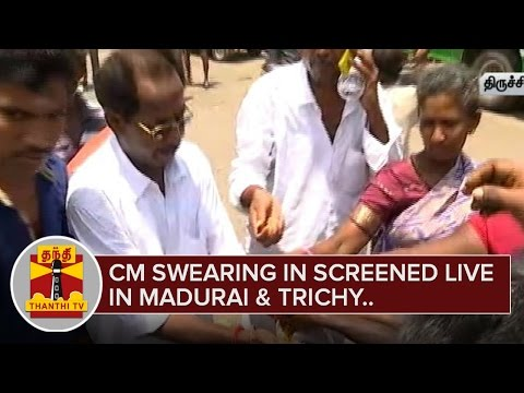Jayalalithaa-Swearing-In-Ceremony-screened-live-in-LED-Screens-in-Madurai-and-Tiruchy-Thanthi-TV