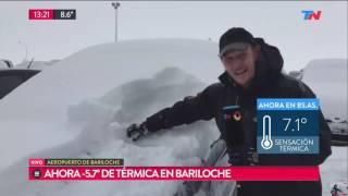 """Fragmento de """"TN de 10 a 14"""" emitido el lunes 17 de Julio de 2017. Así está en este momento la ciudad de Bariloche tras el..."""
