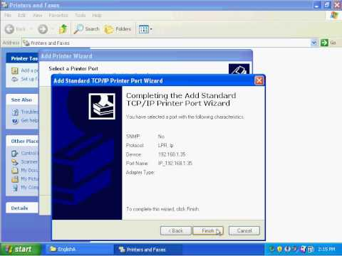 Adding Network Print Drivers Manually In Windows XP