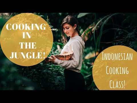 A FOODIES DREAM! | INDONESIAN COOKING CLASS IN THE JUNGLE! | BALI TRAVEL VLOG