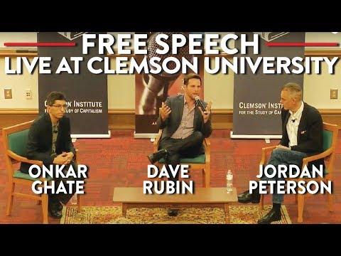 Jordan Peterson, Dave Rubin, Onkar Ghate on Free Speech: LIVE at Clemson (видео)