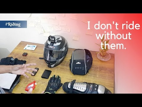 My Riding Gears and Accessories   Helmet, Bag, Gloves, etc.