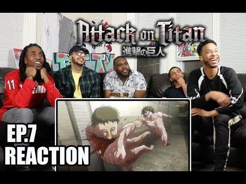 A GOOD TITAN!? ATTACK ON TITAN EP.7 REACTION/REVIEW