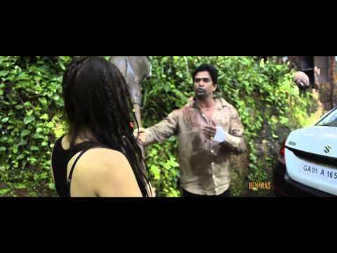 Behind the Scenes - ZiD Movie   Action Sequence between Mannara & Shraddha Das