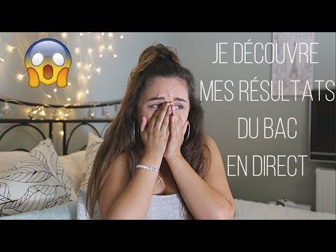 MA RÉACTION EN LIVE....   RÉSULTATS DU BAC 2018