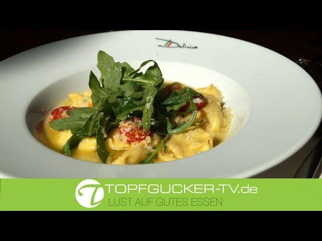 Gnocchetti mit Gorgonzola Füllung in Salbeibutter Soße