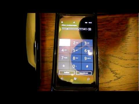 Nokia Lumia 800  Start's dialing numbers all by itself ! Magic?