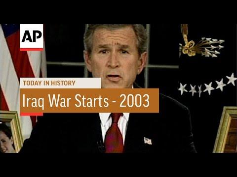 Bush Announces Iraq War Start - 2003 | Today In History | 19 Mar 17