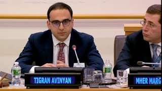 Deputy Prime Minister of Armenia Tigran Avinyan's Speech at the United Nations Headquarters in New York