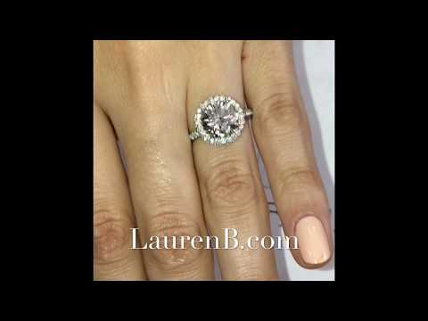 2.78 ct Round Diamond Halo Engagement Ring