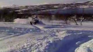 8. Polaris 550 Touring in deep snow!!