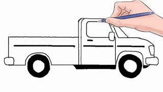 Easy step by step tutorial on how to draw a pickup truck, pause the video at every step to follow the steps carefully. Enjoy ;)- Facebook: https://www.facebook.com/HowtoDrawSimply