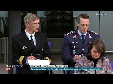 Bundestagsdebatte zum Jahresbericht des Wehrbeauftragten 2018 am 12.04.2019