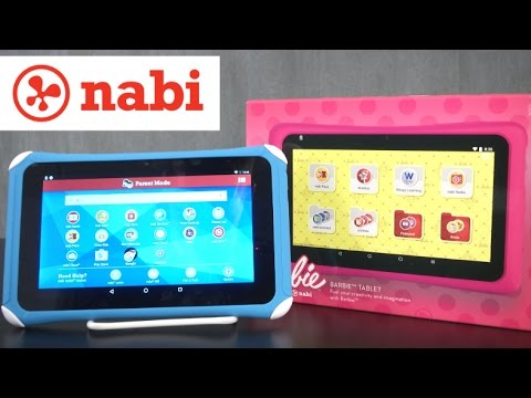 Hot Wheels, American Girl & Barbie nabi Tablet & Fisher-Price Learning Tablet from Mattel