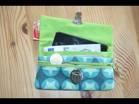 Tasche Friia  (Geldbörse mit Smartphone Fach)  nähen mit kostenlosem Schnittmuster