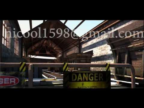 Rail Track 3D walk through