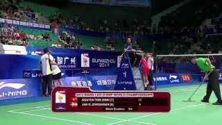 Event: Wang Lao Ji BWF World Championships 2013 - Quarter Finals (Highlight) Date: 5 August 2013 - 11 August 2013 Venue: TianHe Indoor Stadium, Guangzhou Pla...