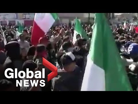 Tijuana protest against migrant Caravan