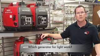 3. Honda Generator Options and Choices