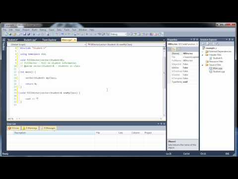 C++ Tutorial 21 - Vectors of Objects