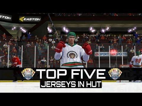 NHL 14 HUT | TOP 5 JERSEYS IN HUT!
