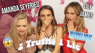 Video TWO TRUTHS ONE LIE WITH AMANDA SEYFRIED & LILY JAMES! Lovevie MP3, 3GP, MP4, WEBM, AVI, FLV Juli 2018