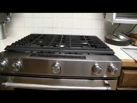 KitchenAid 5.8 Cu. Ft. Gas Range with Convection Oven, Model KSGG700ESS