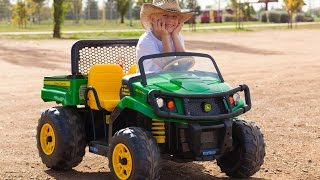 8. Peg Perego John Deere Gator - Unboxing and Riding!