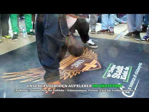 Aufkleber im Härtetest: Breakdance Battle @ Graffitibox Summer Jam 2011 (www.DeineStadtKlebt.de)