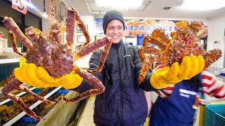 Video RED KING CRAB vs. HANASAKI CRAB!! Big Japanese Food in Hokkaido, Japan! MP3, 3GP, MP4, WEBM, AVI, FLV Juni 2019