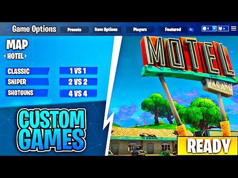 Fortnite Custom Games FINALLY!! (Fortnite Custom Matchmaking)