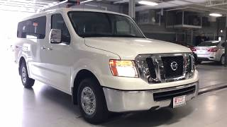 7. 2018 Nissan 3500 NV Passenger van start up and walk around