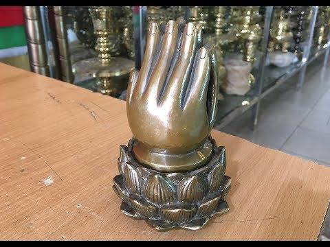 Lư xông trầm hương Bàn Tay Phật | Đỉnh đồng lư hương