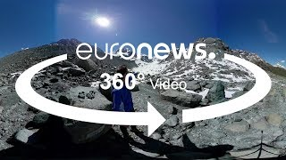 Discover in this 360° video how Italy's Ventina glacier has receded by about one kilometre in less than a century.What are the top stories today? Click to watch: https://www.youtube.com/playlist?list=PLSyY1udCyYqBeDOz400FlseNGNqReKkFdeuronews: the most watched news channel in EuropeSubscribe! http://www.youtube.com/subscription_center?add_user=euronews euronews is available in 13 languages: https://www.youtube.com/user/euronewsnetwork/channelsIn English:Website: http://www.euronews.com/newsFacebook: https://www.facebook.com/euronewsTwitter: http://twitter.com/euronewsGoogle+: http://google.com/+euronewsVKontakte: http://vk.com/en.euronews