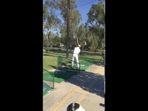 Just about the craziest golf swing there is.  Move over Charles Barkely and Jim Furyk.