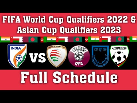 Full Schedule of India for FIFA World Cup Qualifiers 2022 and Asian Cup Qualifier 2023 | #BlueTigers