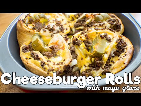 Cheese Burger Rolls With Mayo