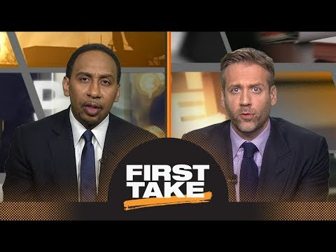Should Celtics be concerned with 76ers' interest in trading for Kawhi Leonard? | First Take | ESPN