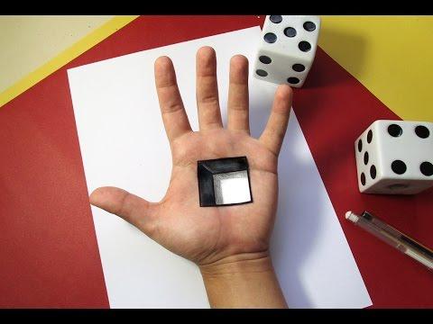 Quadrado na Mão em 3D