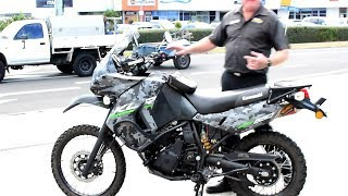 10. 2016 KLR 650 MODIFIED  9000 km Quick Review ......
