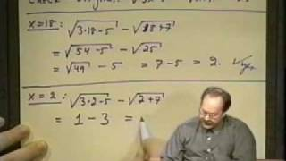 College Algebra - Lecture 19 - Equations In One Variable