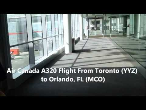 Air Canada Airbus A320 Full Flight from YYZ to MCO (HD)