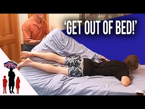 Dad Physically Drags Teenage Boy Out Of Bed | Worlds Strictest Parents USA (видео)