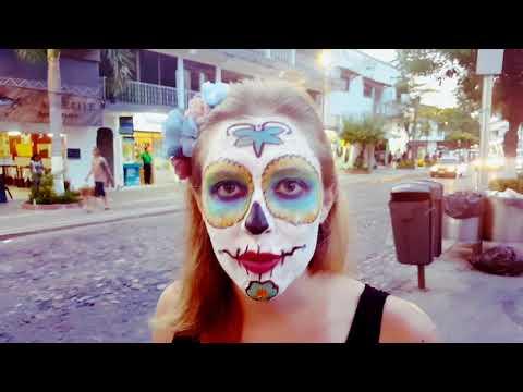 Gringos Celebrating Dia de Muertos in Mexico (Day of the Dead)💀🇲🇽 // Life in Puerto Vallarta Vlog