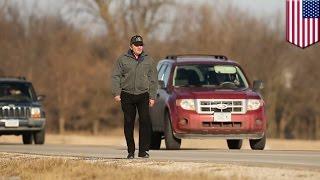 毎日56キロの道のりを徒歩で通勤する男性