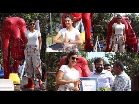 Shilpa Shetty Inaugurates Her Yoga Posed Statue